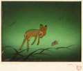Animation Art:Production Cel, Bambi Thumper and Bambi Production Cel Courvoisier Setup(Walt Disney, 1942)....