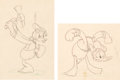 Animation Art:Production Drawing, Donald Duck Production Drawing Group (Walt Disney, 1930s)....(Total: 2 Original Art)