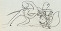Animation Art:Production Drawing, Screwy Truant Screwball Squirrel and Meathead Dog ProductionDrawing (MGM, 1945)....