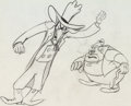 Animation Art:Production Drawing, Uncle Tom's Cabana Simon Legree and Uncle Tom ProductionDrawing (MGM, 1947)....