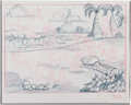 Animation Art:Production Drawing, Scooby Doo and Friends Production Drawing Group (Hanna-Barbera, 1980s).... (Total: 2 Items)
