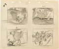 Animation Art:Production Drawing, Pinocchio Concept Art Sketch Group (Walt Disney, 1940)....(Total: 4 Original Art)