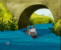 Animation Art:Production Cel, Winnie the Pooh and a Day for Eeyore Production Cel Setupand Key Master Background with Layout Drawing (Walt Disney, ...(Total: 3 Original Art)