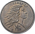 Large Cents, 1793 1C Wreath Cent, Vine and Bars MS64 Brown PCGS. CAC. S-9, B-12, R.3. Our EAC Grade AU58. ...