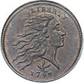 Large Cents, 1793 1C Wreath Cent, Vine and Bars MS68 Brown PCGS. S-8, B-13, R.3.Our EAC Grade MS63. ...