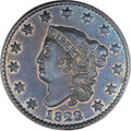 Proof Large Cents, 1823/2 1C PR64 Brown PCGS. N-1, R.7 as a Proof. Our EAC Grade PR60....