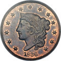 Proof Large Cents, 1836 1C PR63 Red and Brown PCGS. N-1, R.7 as a Proof. Our EAC GradePR63/MS63. ...