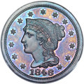 Proof Large Cents, 1846 1C PR65 Brown PCGS. CAC. N-22, R.7. Our EAC Grade PR63.CAC....