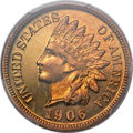 Proof Indian Cents, 1906 1C PR67 Red Cameo PCGS....