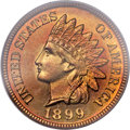 Proof Indian Cents, 1899 1C PR67 Red PCGS....