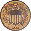 1864 2C Small Motto PR66 Red PCGS....(PCGS# 3626)