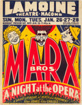 """Movie Posters:Comedy, A Night at the Opera (MGM, 1935). Locally Produced Jumbo WindowCard (22"""" X 28"""").. ..."""