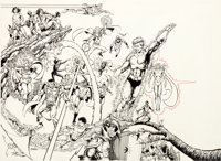 George Perez Who's Who: The Definitive Directory of the DC Universe #1 Cover Original Art (DC, 1985)