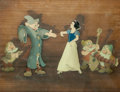 Animation Art:Production Cel, Snow White and the Seven Dwarfs Dance Sequence Production Cel Courvoisier Setup (Walt Disney, 1937)....