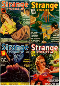 Books:Science Fiction & Fantasy, [Pulps]. Four Issues of Strange Stories, 1940-1941. Publisher's printed wrappers. Toned, with edgewear. Very goo... (Total: 4 Items)