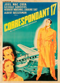 "Movie Posters:Hitchcock, Foreign Correspondent (Kleberfilm, 1948). First Post War ReleaseFrench Grande (45.5"" X 62"").. ..."