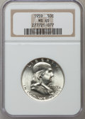 Franklin Half Dollars: , 1959 50C MS65 NGC. NGC Census: (1497/50). PCGS Population (768/28).Mintage: 6,200,000. Numismedia Wsl. Price for problem f...
