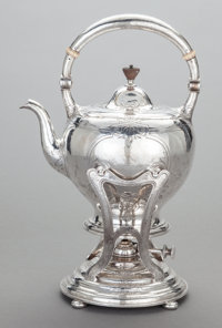 AN AMERICAN SILVER HOT WATER KETTLE AND STAND, Gorham Manufacturing Co., Providence, Rhode Island, circa 1900 Mark