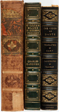 Books:Literature Pre-1900, [William Blake, Dante, Dr. Syntax]. Three Books with AssortedLeather Bindings. Various publishers and dates. All with attra...(Total: 3 Items)