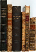 Books:Literature Pre-1900, [William Wordsworth, Austin Dobson. Lord Byron, Ossian, et al].Group of Six Books with Assorted Leather Bindings. Various p...(Total: 6 Items)