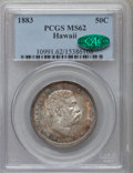 Coins of Hawaii, 1883 50C Hawaii Half Dollar MS62 PCGS. CAC....