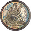 Proof Seated Dimes, 1837 10C No Stars PR65 PCGS. CAC....