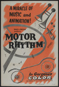 "Movie Posters:Animated, Motor Rhythm (RKO-Pathé Distributing, 1953). One Sheet (27"" X 41"").Animated. Directed by John Norling...."