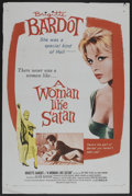 "Movie Posters:Bad Girl, A Woman Like Satan (Lopert Pictures, 1959). One Sheet (27"" X 41"").Bad Girl. ..."