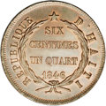 Haiti: , Haiti: Republic 6 1/4 Centimes 1846-An 43, KM29, MS66 NGC Brown, anincredible example with virtually perfect surfaces and abundant...