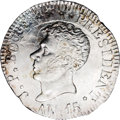 Haiti: , Haiti: Republic 25 Centimes An 15 (1818), KM16, MS64 NGC, awell-struck example with full mint luster and excellent eye appeal.Rar...