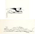 Animation Art:Production Drawing, Wile E. Coyote and Road Runner Production Drawing and Print Group(Warner Brothers, 1980s).... (Total: 9 Items)
