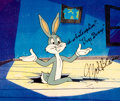 Animation Art:Production Cel, An Ounce of Prevention Bugs Bunny Production Cel Signed by Mel Blanc with Production Drawing (Warner Brothers, 1982).... (Total: 2 Items)