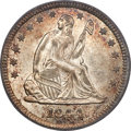 Seated Quarters, 1844-O 25C MS65 PCGS. CAC....