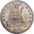 Seated Quarters, 1871-CC 25C MS65 PCGS Secure. CAC. Briggs 1-A....