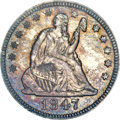 Proof Seated Quarters, 1847 25C PR66 NGC. Briggs 8-E....