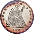 Proof Seated Quarters, 1872 25C PR68 NGC. Briggs 3-C....