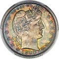 Barber Quarters, 1895-O 25C MS68 PCGS. CAC....