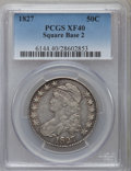 Bust Half Dollars: , 1827 50C Square Base 2 XF40 PCGS. PCGS Population (202/1601). NGCCensus: (120/1547). Mintage: 5,493,400. Numismedia Wsl. P...