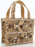 Luxury Accessories:Bags, Prada Natural Snakeskin Embellished Handle Bag. ...