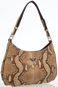 Luxury Accessories:Bags, Prada Natural Snakeskin Shoulder Bag. ...