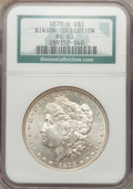 Morgan Dollars: , 1878-S $1 MS63 NGC. Ex: Binion Collection. NGC Census:(13105/19108). PCGS Population (13921/17992). Mintage: 9,774,000.Nu...