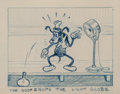 Animation Art:Production Drawing, Mickey's Service Station Goofy Storyboard Drawing (WaltDisney, 1935)....