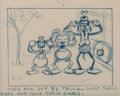 Animation Art:Production Drawing, Mickey's Service Station Donald Mickey and Goofy StoryboardDrawing (Walt Disney, 1935)....
