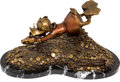 Memorabilia:Comic-Related, Carl Barks Sport of Tycoons Uncle Scrooge Bronze Sculpture Limited Edition #39/100 (Walt Disney/Paul Vought, 1994)... (Total: 2 Items)