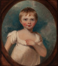 Fine Art - Painting, European:Antique  (Pre 1900), Circle of SIR THOMAS LAWRENCE (British, 1769-1830). Portrait ofa Young Boy (possibly William Henry Holmes, 1812-1885). ...