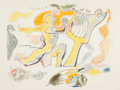 Prints, ANDRÉ MASSON (French, 1896-1987). Orphee. Color lithograph. 20-1/2 x 27 inches (52.1 x 68.6 cm) (sight). Ed. EA. Signed ...