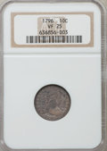 Early Dimes: , 1796 10C VF25 NGC. NGC Census: (4/174). PCGS Population (22/184).Mintage: 22,135. Numismedia Wsl. Price for problem free N...
