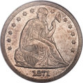 Seated Dollars, 1871-CC $1 MS61 NGC....