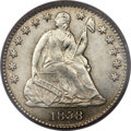 Seated Half Dimes, 1858 H10C Doubled Date MS64 PCGS. CAC. FS-301, R.6....