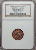 U.S. Presidents & Statesmen, 1880 James Garfield Campaign Medal MS64 Red and Brown NGC.DeWitt-JG-1860-15. Copper....